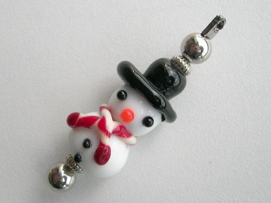 Glaskraal: Frosty the snowman met rode sjaal