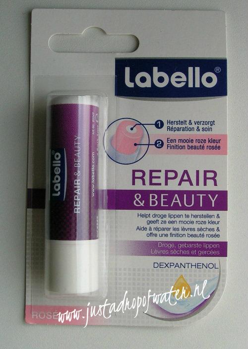 Aanvulling van mijn labelloverzameling. Labello Repair&Beauty, Nederlands/Frans-talig